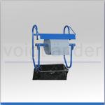Wandhalter für Putztuchrolle, bis 42cm (B), mit Abfallsackhalterung