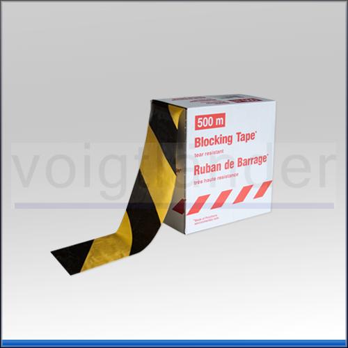 Sehr Voigtländer Kriminaltechnik | Absperr-Warnband schwarz/gelb, 80mm  ZN19