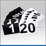 Nummernsatz, schwarz/weiß, 110 x 80mm (BxH)