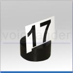 Aufsteller für Nummerntafel, PE schwarz, 80 x 30mm