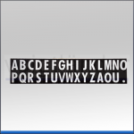 Buchstabensatz A-Z magnetisch, 30x20mm (HxB)