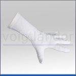 Cotton Gloves, raw white, size M/L, 35cm (L)