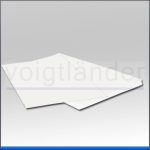 Chromolux Backing Card, high gloss paper, white