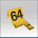 Nummernsatz mit Skala und Fadenkreuz