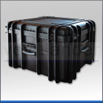 Transportkoffer, PP schwarz, 605 x 511 x 376mm