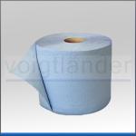Wisch-/ Putztuch, 35 x 37cm, 3-lagig, blau, Rolle