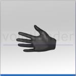 Nitril Einmal-Handschuh, schwarz