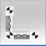 Winkel-Lineal 90° (Einweg), 105 x 105mm