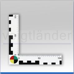 Winkel-Lineal weiß