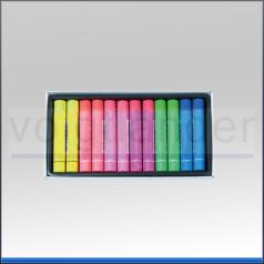 Fluor-Signierkreide, 11 x  70mm, 6 Farben sortiert