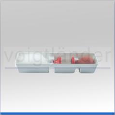 Aufbewahrungsbox für Marabu-/ Zephyr-Zerstäuberpinsel mit transparentem Stülpdeckel