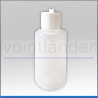 Kipphebelflasche PE farblos