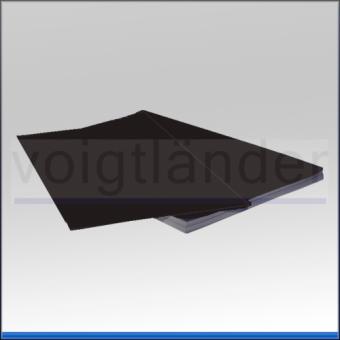 Chromolux-Kontrastblatt schwarz glänzend