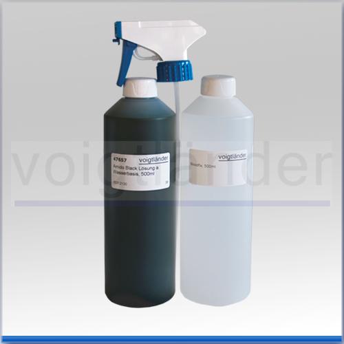 Amido Black, Lösung, auf Wasserbasis, 500ml, in Sprühflasche