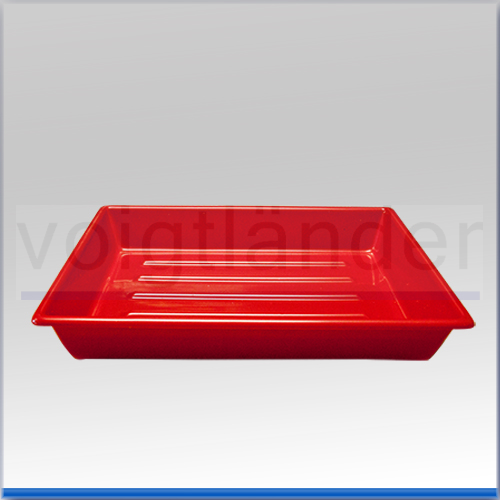 Laborschale, mit Bodenrillen rot